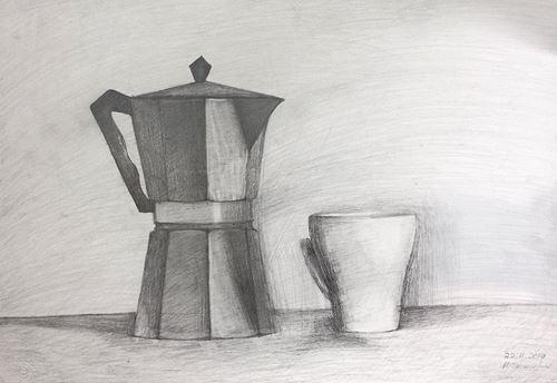 Σπουδή με καφετιέρα