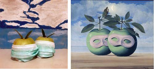 Άσκηση αναπαραγωγής έργου του Rene Magritte